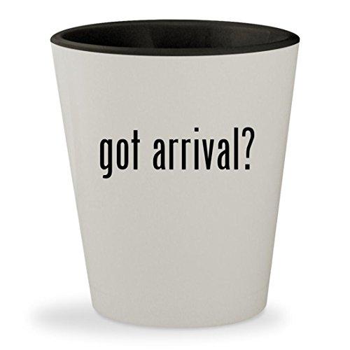 got arrival? - White Outer & Black Inner Ceramic 1.5oz Shot Glass