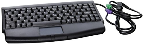 Adesso Mini Black PS/2 Keyboard with Glidepoint Touchpad (ACK-540) 2 Button Ps/2 Glidepoint Touchpad