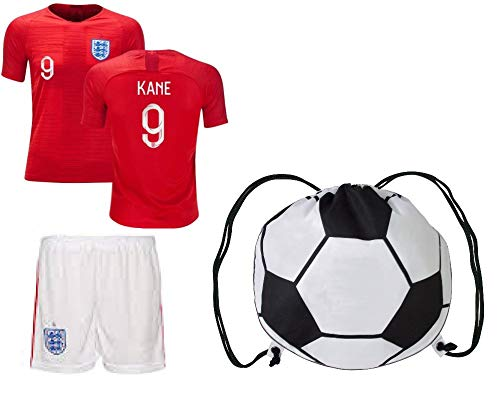 S.F.A England Harry Kane #9 Soccer Jersey Kids Youth Sizes Football World Cup Premium Gift (YM 8-10 yrs, Away) (Best World Cup Jerseys)
