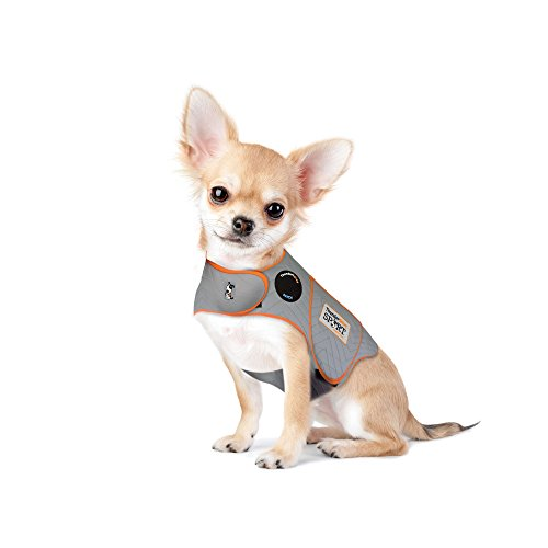 (Thundershirt Sport Dog Anxiety Jacket, Platinum, XX-Small)