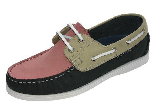 Deck pink Boat Nubuck Sizes beige Seafarer uk Yachtsman Ladies Navy Leather Shoes 3 4 8 xn4UwS