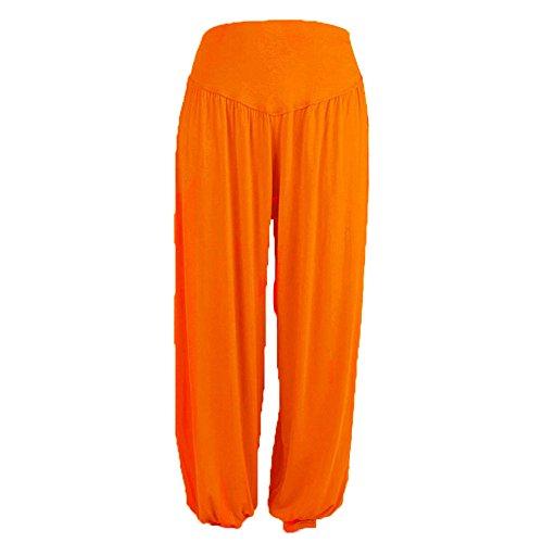 Occasionnels Pyjamas Loose Larges NINGSANJIN Haute Lanternes lastiques Femmes Sports Coton Pantalons Modal Jambes Orange Pants Taille Laches Pantalons Confortable Yoga Grande Yoga Casuel wwPtOqf
