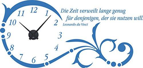 GRAZDesign Wanduhr groß Aufkleber Ornament mit Spruch - - - Wandtattoo Uhr mit Uhrwerk Die Zeit verweilt Lange genug - Uhren Wand Tattoo mit großen Zahlen   119x57cm   800331_GD_080 B00CRHLHP6 Wandtattoos & Wandbilder 13c332