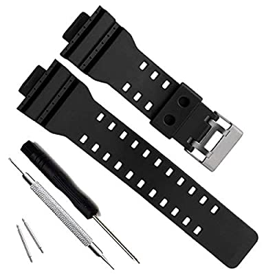 Natural Resin Replacement Watch Band Strap for Casio Mens G-Shock GD120/GA-100/GA-110/GA-100C