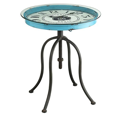 Clock Powell (Powell 15A2002 Blue Round Clock Table)