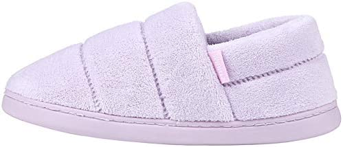 Leisurely Pace Womens Cozy Memory Foam Slippers Indoor Outdoor Anti-Skid Sole Velvet Winter Warm House Slippers