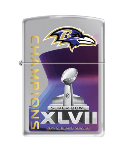 NFL Baltimore Ravens Super Bowl XLVII Champions Team Color Zippo Lighter by Zippo