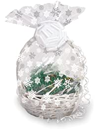 Favor Creative Converting 71045 Snowflake Cello Basket Bag opportunity