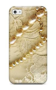 High Grade ZippyDoritEduard Flexible Tpu Case For Iphone 5c - Beautiful Embroidery Sewn With Gold Thread And Gems