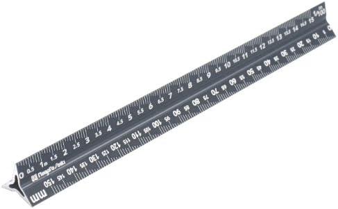 新潟精機 SK アルミ三角スケール 快段目盛 一般用 15cm TSGA-15KD ブロンズ