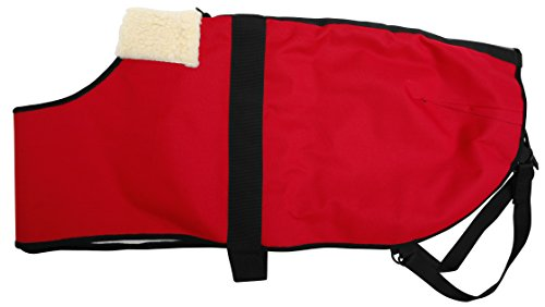 All Seasons Sherpa Coat Vest for Dogs with Velcro Strap for Large Dogs (Large - Red) by All Seasons Products, Inc. (Image #1)