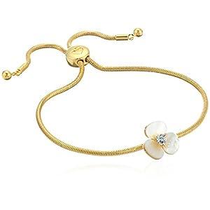 Kate Spade New York Womens Slider Bracelet, Cream Multi/Gold
