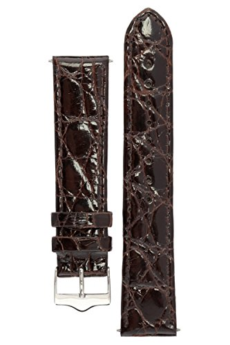 signature-royal-in-dark-brown-22-mm-extra-long-watch-band-replacement-watch-strap-genuine-crocodile-