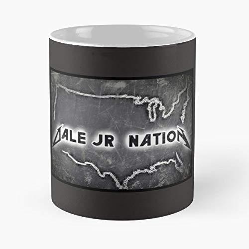 Dale Earnhardt Jr Nascar Racing - 11 Oz Coffee Mugs Unique Ceramic Novelty Cup, The Best Gift For Holidays. Dale Earnhardt Jr Travel Mug