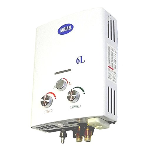 - AQUAH Outdoor Open Flue Liquid Propane Gas Tankless Water Heater 6 L / 1.6 GPM