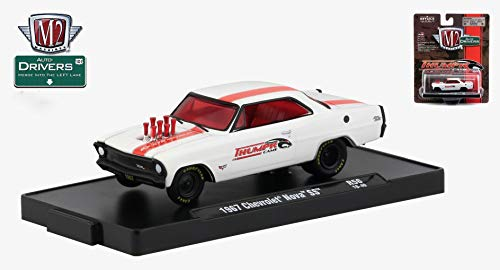 M2 Machines 1967 Chevrolet Nova SS (THUMPR CAMS Auto-Drivers Release 56 - Castline 2019 Special Edition 1:64 Scale Die-Cast Vehicle & Custom Display Base (R56 18-40) ()