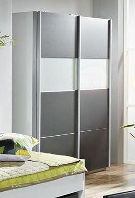 AVANTI TRENDSTORE-Mueble con puertas correderas gris metálico y blanco de juguete: 181 x 197 x 62 cm: Amazon.es: Hogar