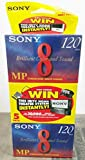 Sony 8mm Standard 120 minute 120MP Cassette Tape (5 Pack)