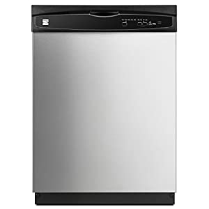 """Kenmore 2217383 24"""" Built-In Dishwasher, Stainless Steel"""