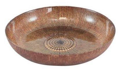 Burnt Brown Red & Orange Colours Decorative Bowl Ideal For Pot Pourri Sil