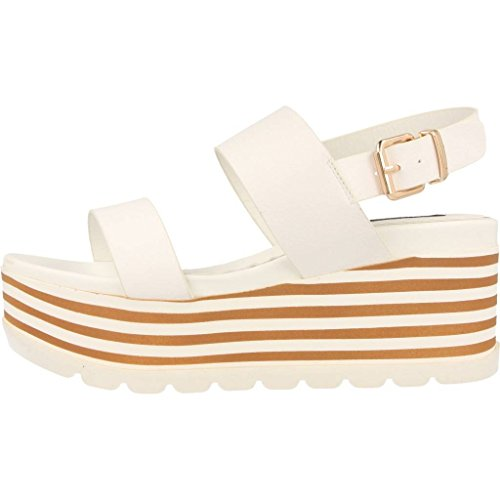 Sandalias y chanclas para mujer, color Blanco , marca MTNG, modelo Sandalias Y Chanclas Para Mujer MTNG 3423 R3 Blanco Blanco