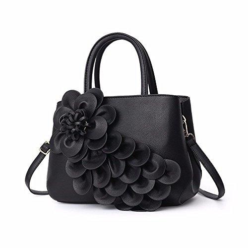 Mujer Black Bolso De Moda Hombro Bolsos Mano Eeayyygch Gray a a Simple 30x22x14cm Casual Para nOWqIcU