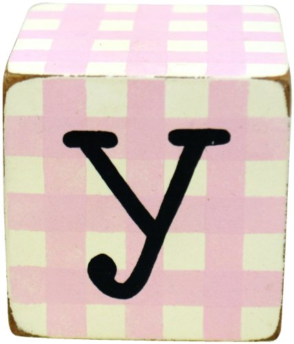New Arrivals Letter Block Y, Pink/White