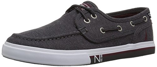 Nautica Boys' Spinnaker-Brushed Boat Shoe, Grey Brushed, 4 M US Big Kid