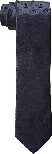 Crown Tie (Dolce & Gabbana  Men's Classic Foulard Crown Tie Blue Necktie)