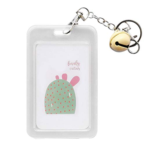 - KLGDA Creative Keychain for Men and Women with Girl Cute Student Card Bank Card Bus ID Card Set Transparent (A, 11.2x7cm)