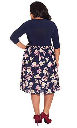 IGIGI Women's Plus Size Brittany Dress in Midnight Blossom 14/16