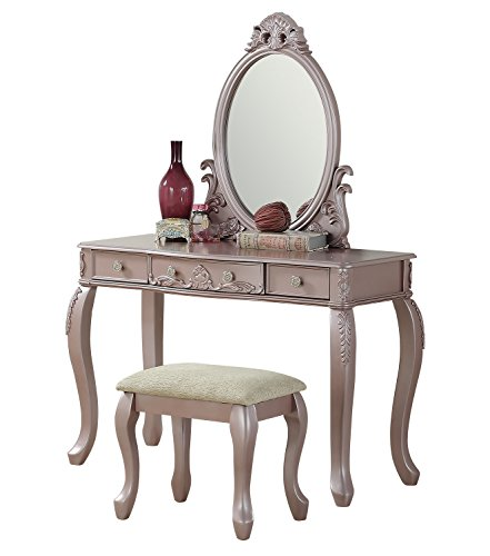 BOBKONA F4169 PDEX-F4169 Vanity Table, Rose Gold