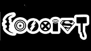 Coexist Avengers Vinyl Decal Sticker Car Truck Van Wall Laptop WHITE 6.5 In KCD674