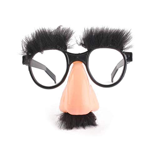 Lessonmart Halloween Tricky Decorative Big Nose Funny Glasses Toys Party Bar Funny Gags Jokes Accessory Prop Kids Adult Festival Gift Toy ()