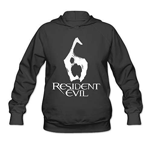 [CEDAEI Women's Resident Evil Hoodies Hooded Sweatshirt Without Kangaroo Pocket X-Large Black] (Zoolander Costume Design)