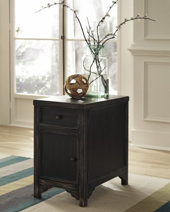 Ashley Furniture Signature Design - Gavelston Chair Side End Table - Rectangular - Rubbed Black Finish by Signature Design by Ashley