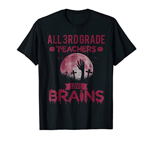 All 3rd Grade Teacher Back to School Halloween Gift Tshirt -