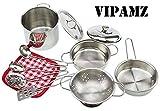 VIPAMZ Toy Kitchen Set for Kids, Pretend Cooking