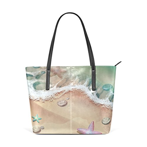 for Sea Shoulder Tote Bag Shore Starfish and Purse And women handbags bag Leather PU COOSUN OnHqw1Bw