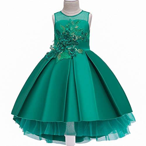 Baby Girls Infant Embroidery Dress Wedding Toddler High-end Dress Flower Dress,D0953-Green,8 -