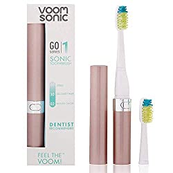 Voom Sonic Go 1 Series Rechargeable Battery-Operated Electric Toothbrush | Dentist Recommended | Portable Oral Care | 2 Minute Timer | Light Weight Design | Soft Dupont Nylon Bristles