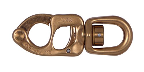 Tylaska T8 Trigger Release Snap Shackle (Large Bail (Classic Bronze (Bronze Snap Shackle)