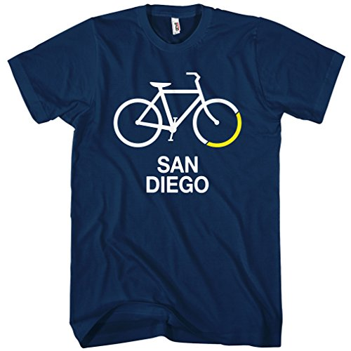Smash Transit Men's Bike San Diego T-Shirt - Navy, X-Large
