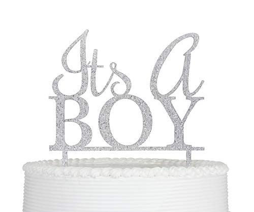It's a Boy Cake Topper, Boy Baby Shower, Gender Reveal Party Decorations -