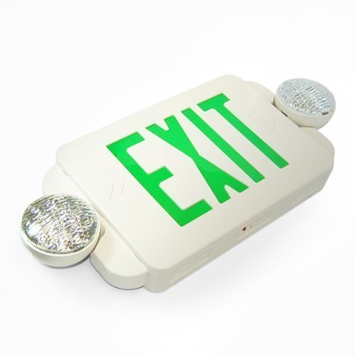 eTopLighting 1 Packs of LED Green Exit sign Emergency Light Combo with Battery Back-Up, EL2BG-1