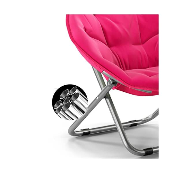 Chaise Adulte Moon Chair Sun Lazy Chaises Chaise Pliante Fauteuil inclinable Round Sofa (Couleur : Rouge)