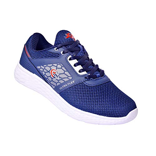 Navy Blue Red Casual Sports Shoes