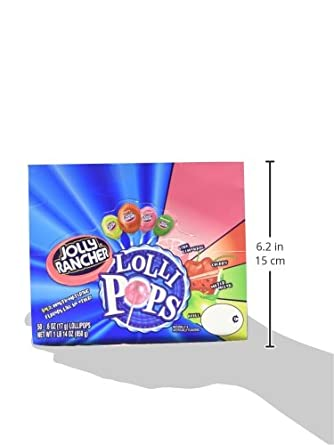 Jolly Rancher Lollipops, Original Flavors (50-Count box) 1 Pound 14 Ounce