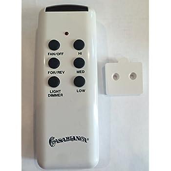 Casablanca Ceiling Fan Remote Control Chq8bt7053t Casa