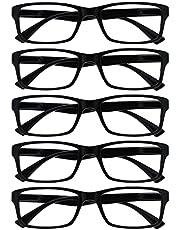 The Reading Glasses Company Zwarte waarde 5 Pack Mens Womens Designer stijl lezers RRRRR92-1 +2.00